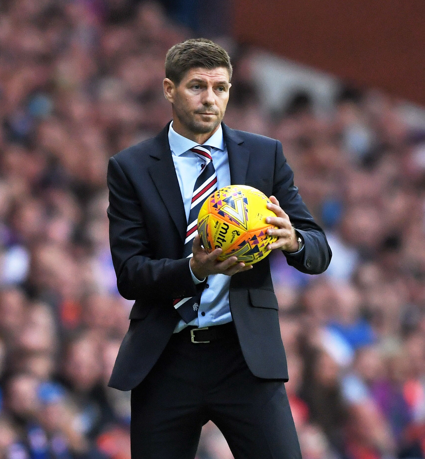 12/07/18 UEFA EUROPA LEAGUE FIRST QUALIFYING ROUND 1st LEG. RANGERS v FK SHKUPI . IBROX - GLASGOW. Rangers manager Steven Gerrard on the touchline..