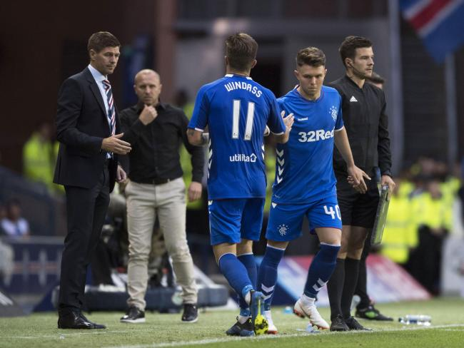 Steven Gerrard was pleased with Josh Windass on Thursday, but some fans were happy to see him substituted   Photograph: SNS