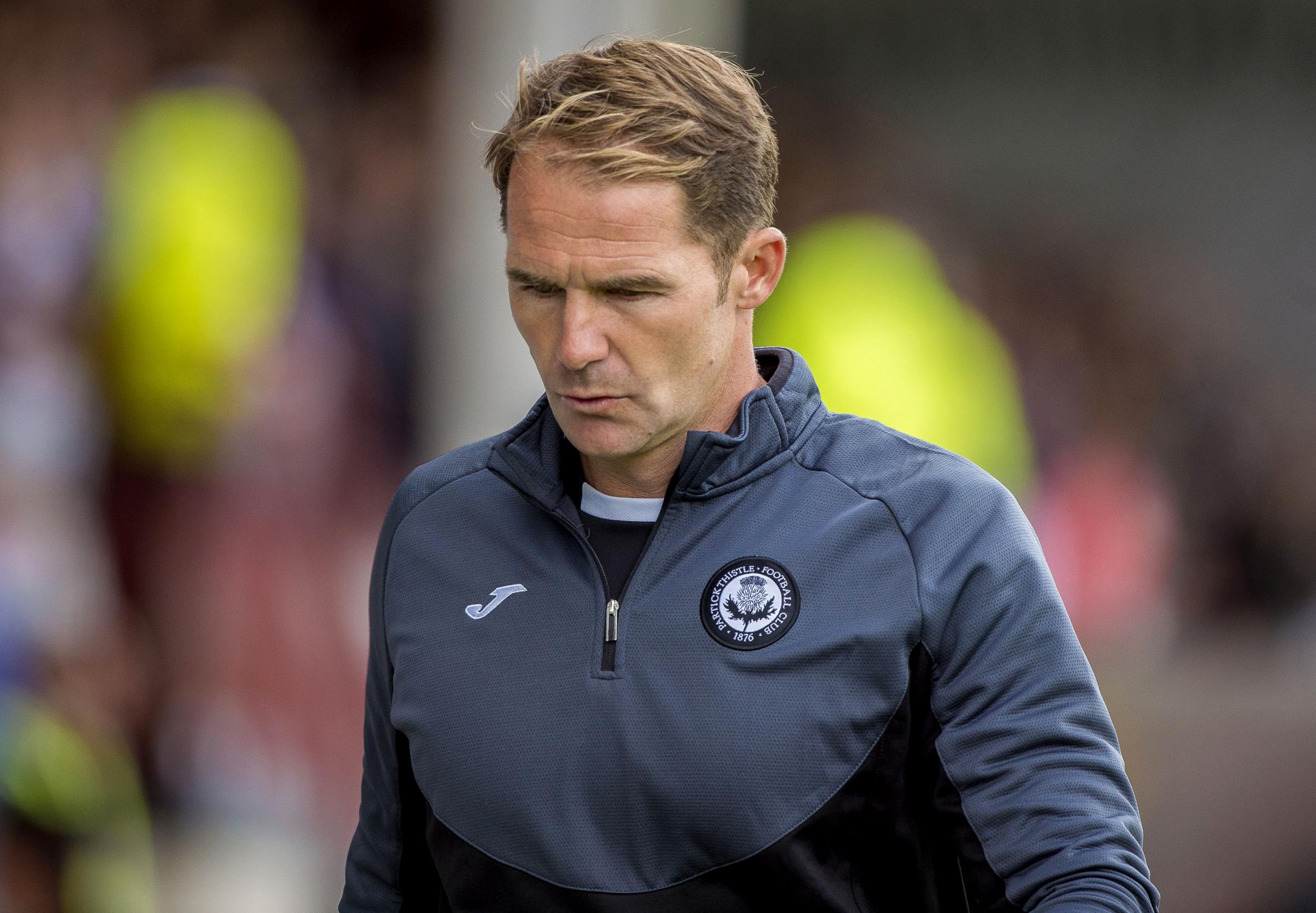 28/07/18 BETFRED CUP E. PARTICK THISTLE V AYR UNITED. THE ENERGY CHECK STADIUM AT FIRHILL - GLASGOW . Partick Thistle manager Alan Archibald looking dejected.
