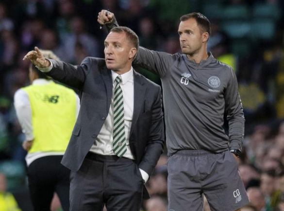 Brendan Rodgers and assistant Chris Davies have done as well as they could have in Europe with Celtic
