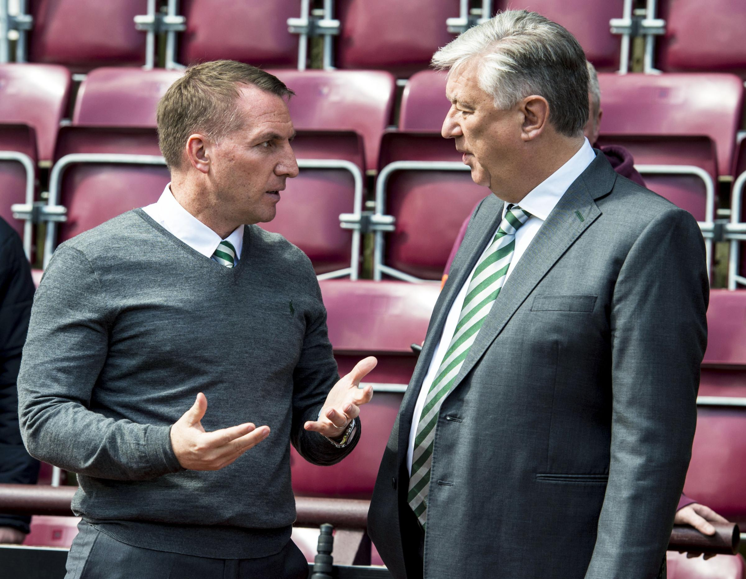 Celtic manager Brendan Rodgers will be hoping that Peter Lawwell, Ian Bankier and the rest of the club's board back him in the January transfer window