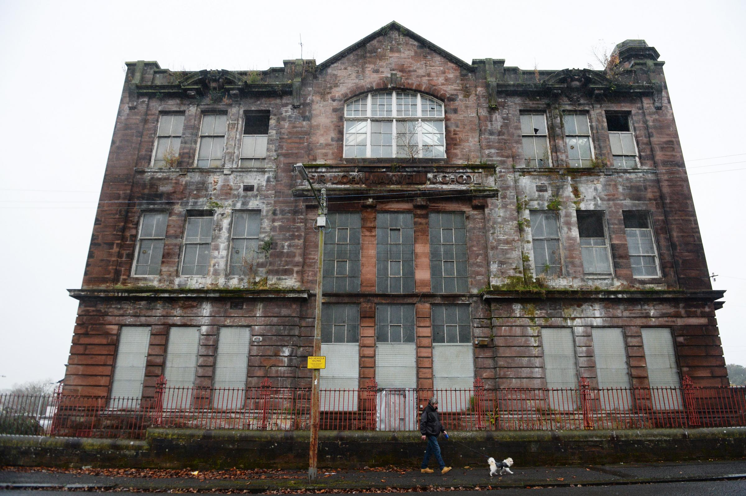 The school building has been empty and derelict since 2011 and faces demolition