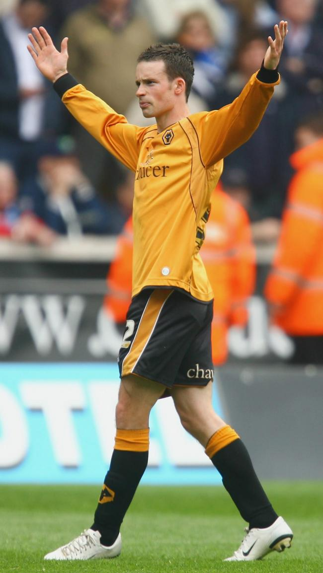 WOLVERHAMPTON, UNITED KINGDOM - APRIL 22:  Michael McIndoe of Wolves celebrates his first goal  during the Coca Cola Championship match between Wolverhampton Wanderers and Birmingham City at Molineux on April 22, 2007 in Wolverhampton, England  (Photo by