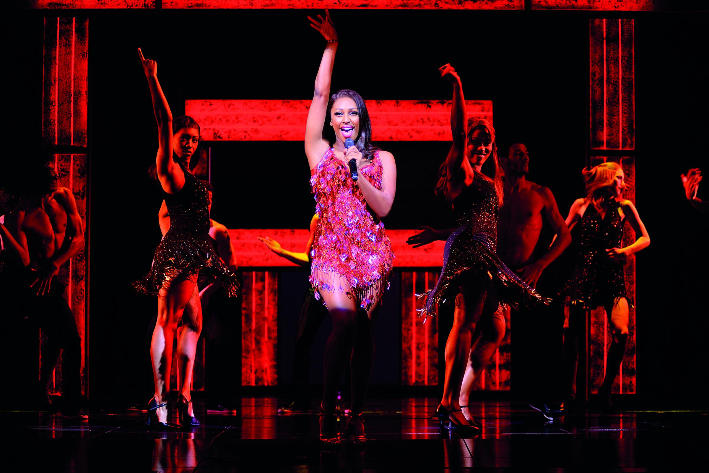 HP 19 Sep 2018 Alexandra Burke Alexandra Burke in The Bodyguard (Photograph of West End production) - 5385 - Photo by Paul Coltas