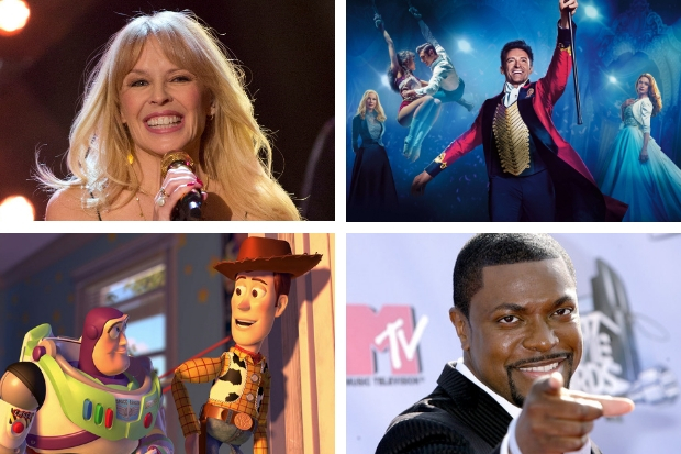 Kylie Minogue, Greatest Showman Boozy Brunch, Toy Story Lunch Party and Chris Tucker