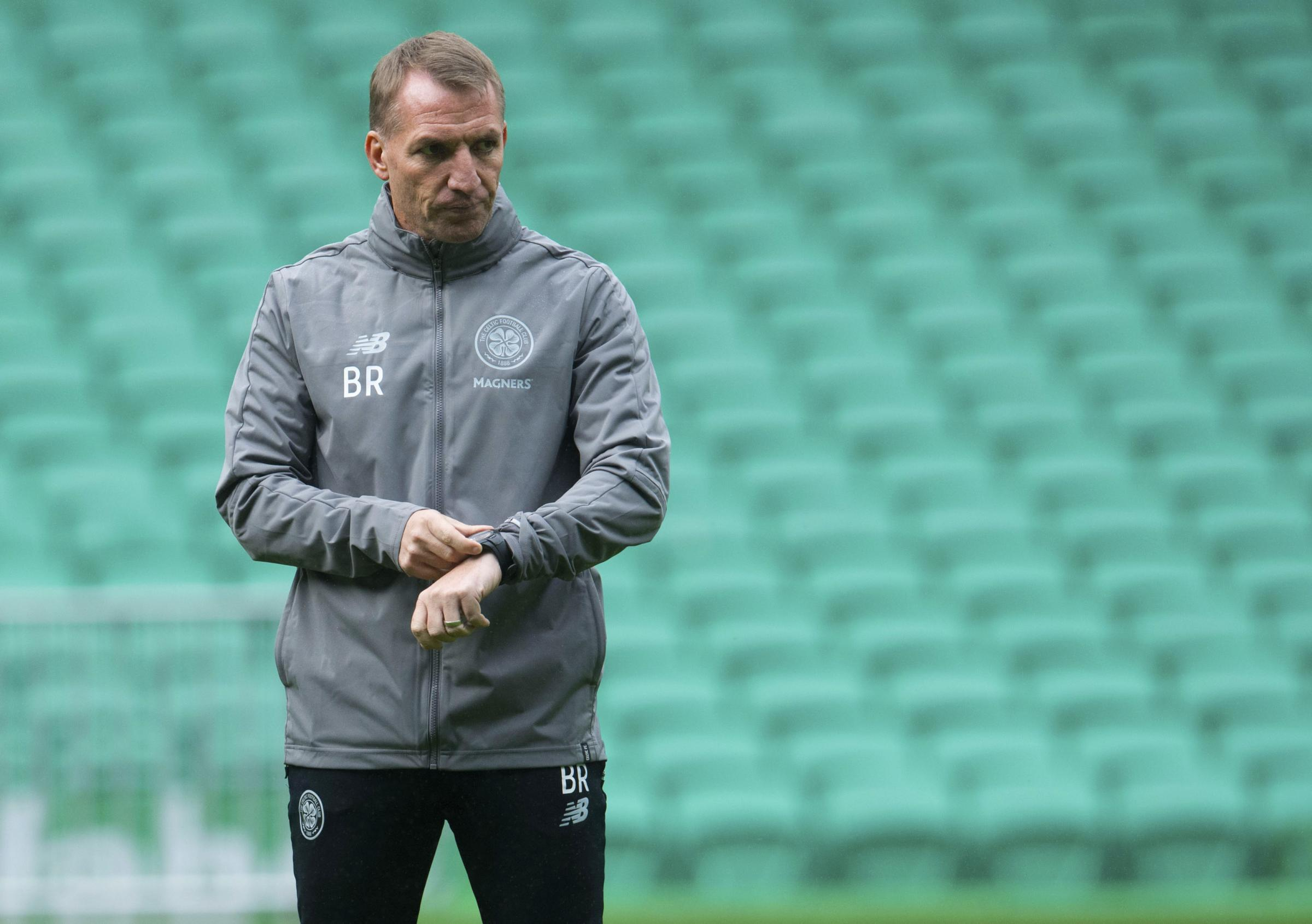 03/10/18. CELTIC TRAINING. CELTIC PARK - GLASGOW. Celtic manager Brendan Rodgers.