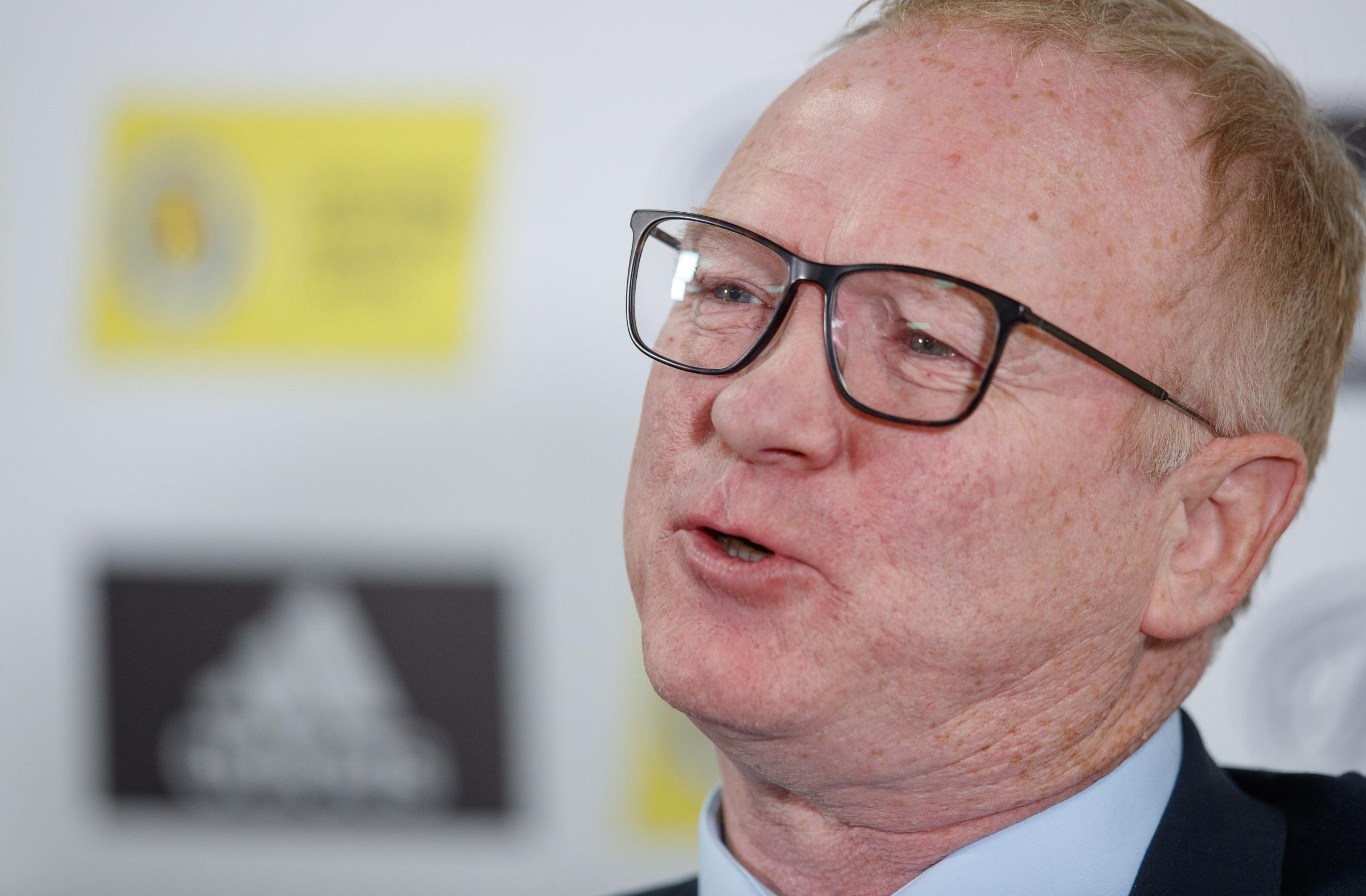 1 October 2018 Hampden Park Glasgow: Scotland Manager Alex Mcleish speaks to the media ahead of their Nations League Group matches against Israel and Portugal.