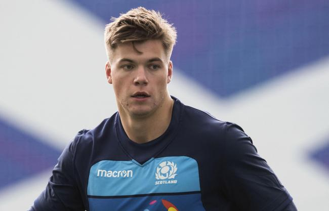 30/10/18.SCOTLAND TRAINING.ORIAM - EDINBURGH.Scotland's Huw Jones..