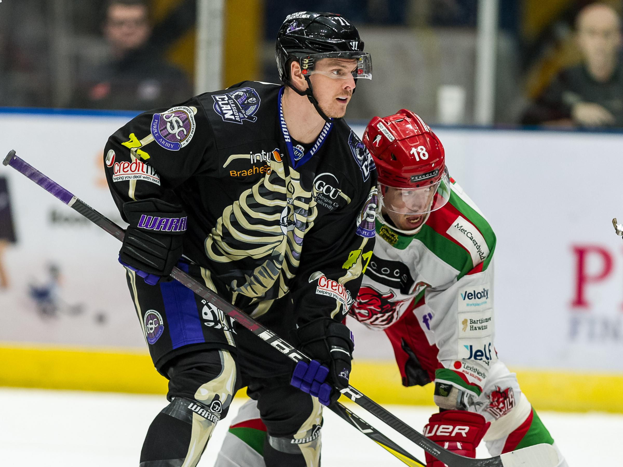Glasgow Clan narrowly defeated 0-1 by Cardiff Devils at Braehead Arena on  ,31 October 2018, Picture: Al Goold (www.algooldphoto.com)