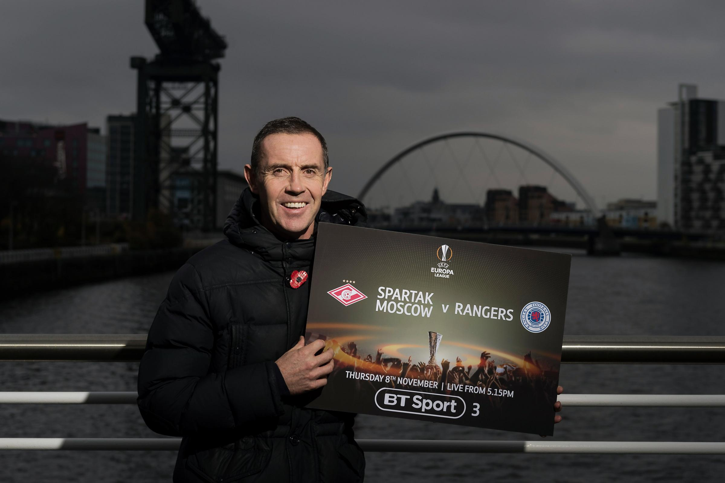 Glasgow, 6/11/18.David Weir, appearing on behalf of BT Sport to promote the broadcaster's coverage of this week's Europa League action including Spartak Moscow v RangersPic free for first use relating to BT Sport.For more information please