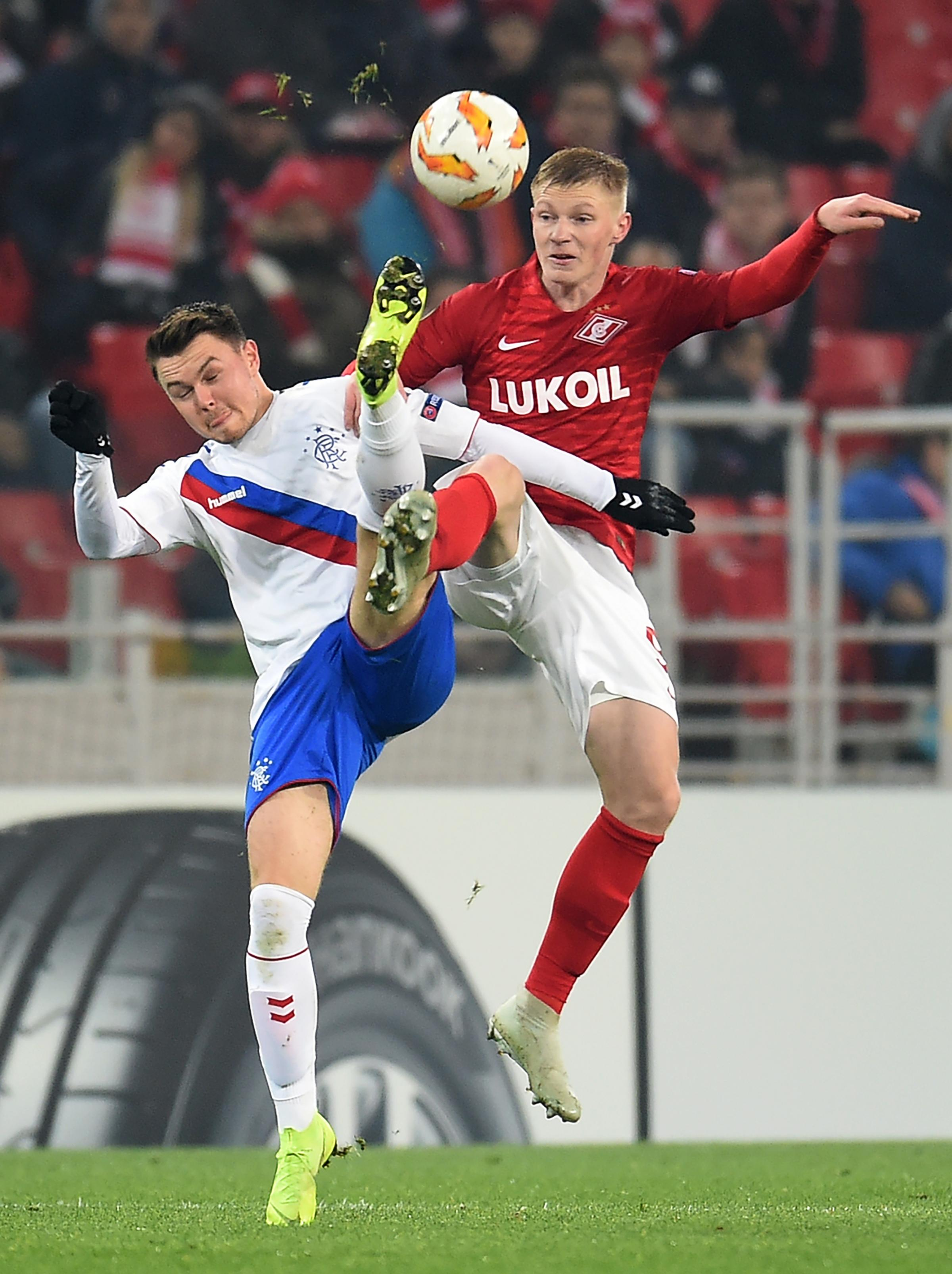 Glenn Middleton was one of the plus points for Rangers and his goal made it 3-2 against Spartak Moscot