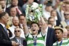 19/05/18 WILLIAM HILL SCOTTISH CUP FINAL.  MOTHERWELL v CELTIC.  HAMPDEN PARK - GLASGOW . Celtic's Kieran Tierney holds aloft the Scottish Cup.