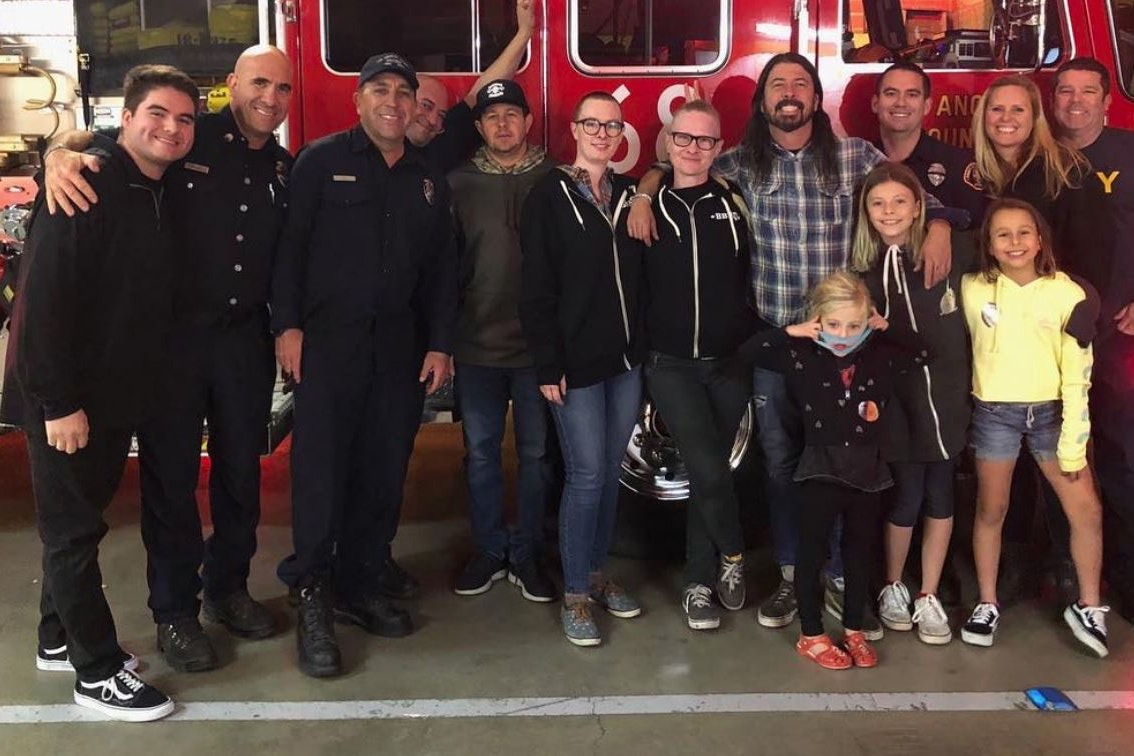 Dave Grohl thanked for feeding firefighters tackling California blaze