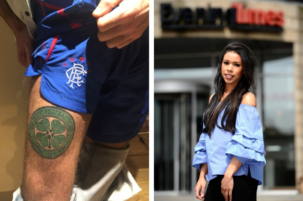 Victoria Obahor (right)  has no regrets about 'gifting' the tattoo (left)