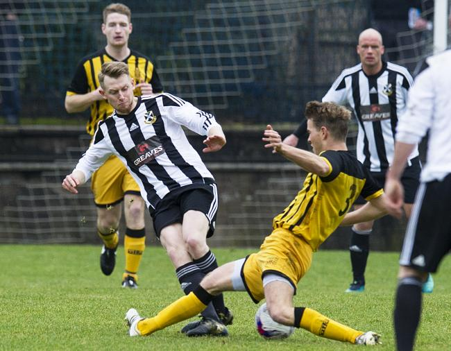 Auchinleck's Ross Harvey, right, could be out injured for quite some time