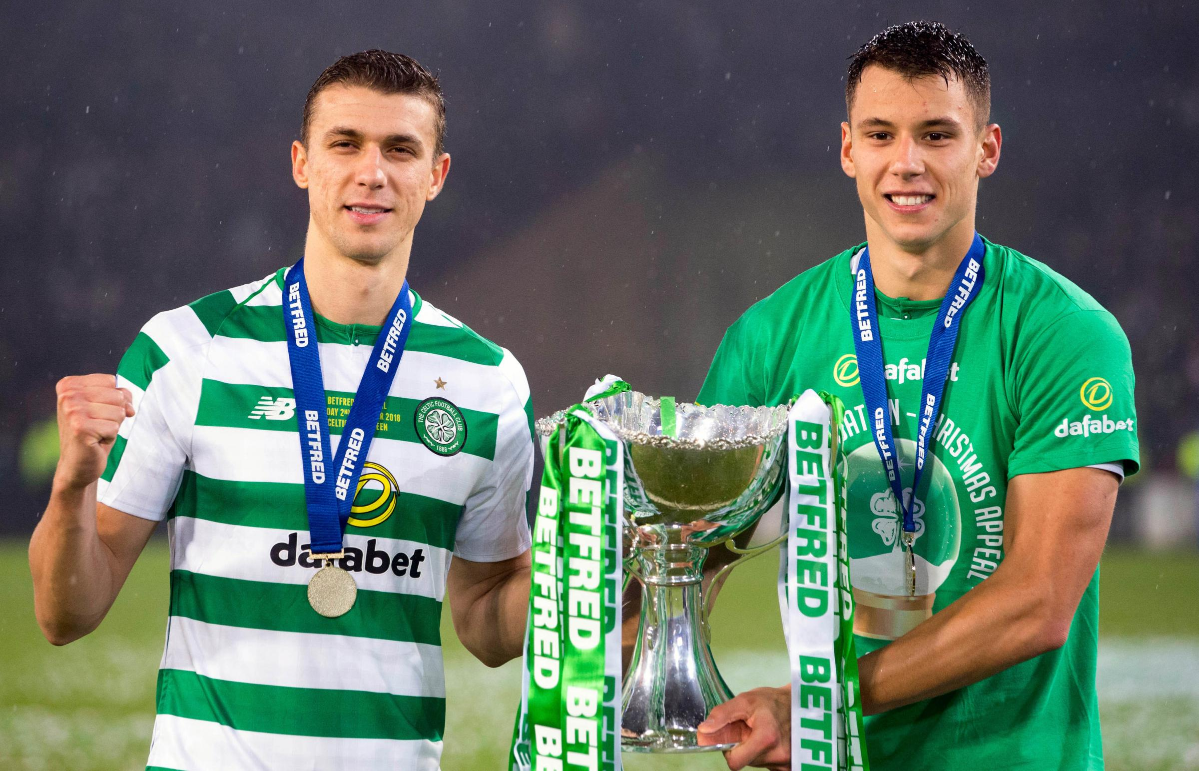 Celtic's Jozo Simunovic and Filip Benkovic could establish a partnership at the heart of Celtic's defence (Pic: Jeff Holmes/PA Wire)