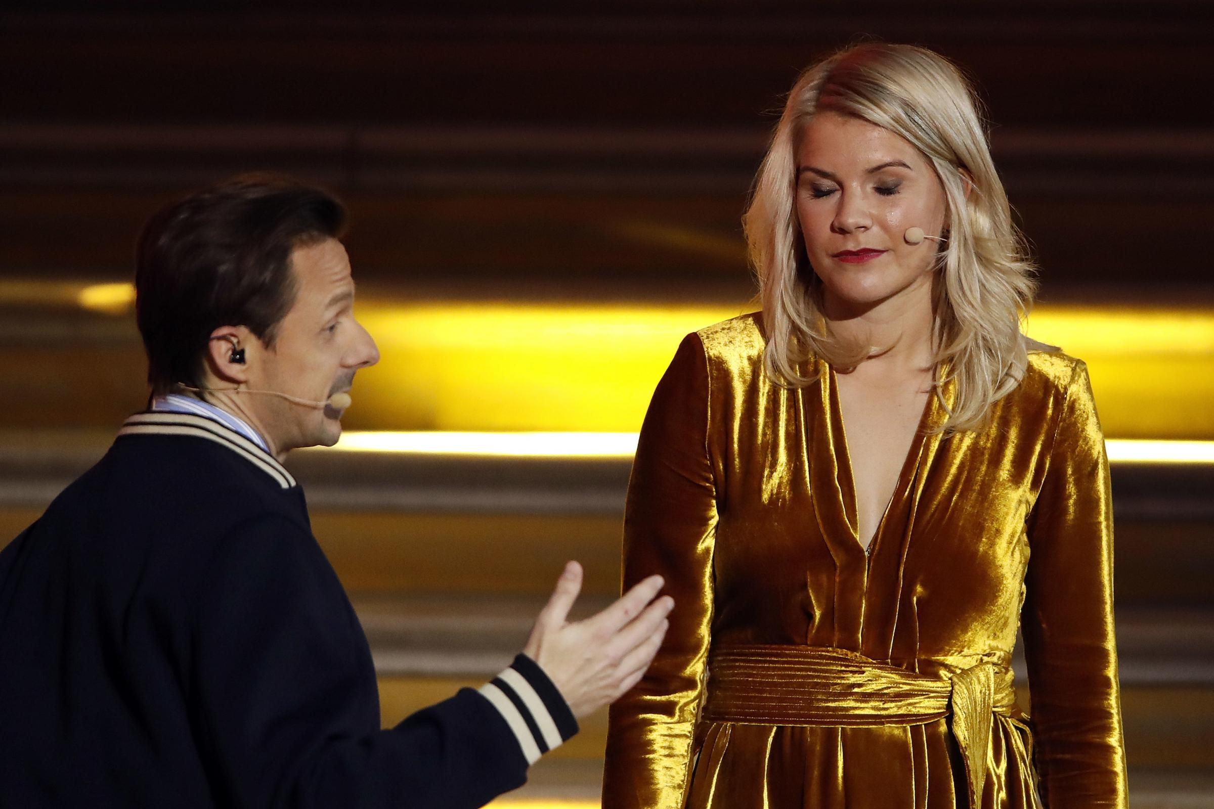 French DJ and musician Martin Solveig, with female Ballon D'or winner Ada Hegerberg.