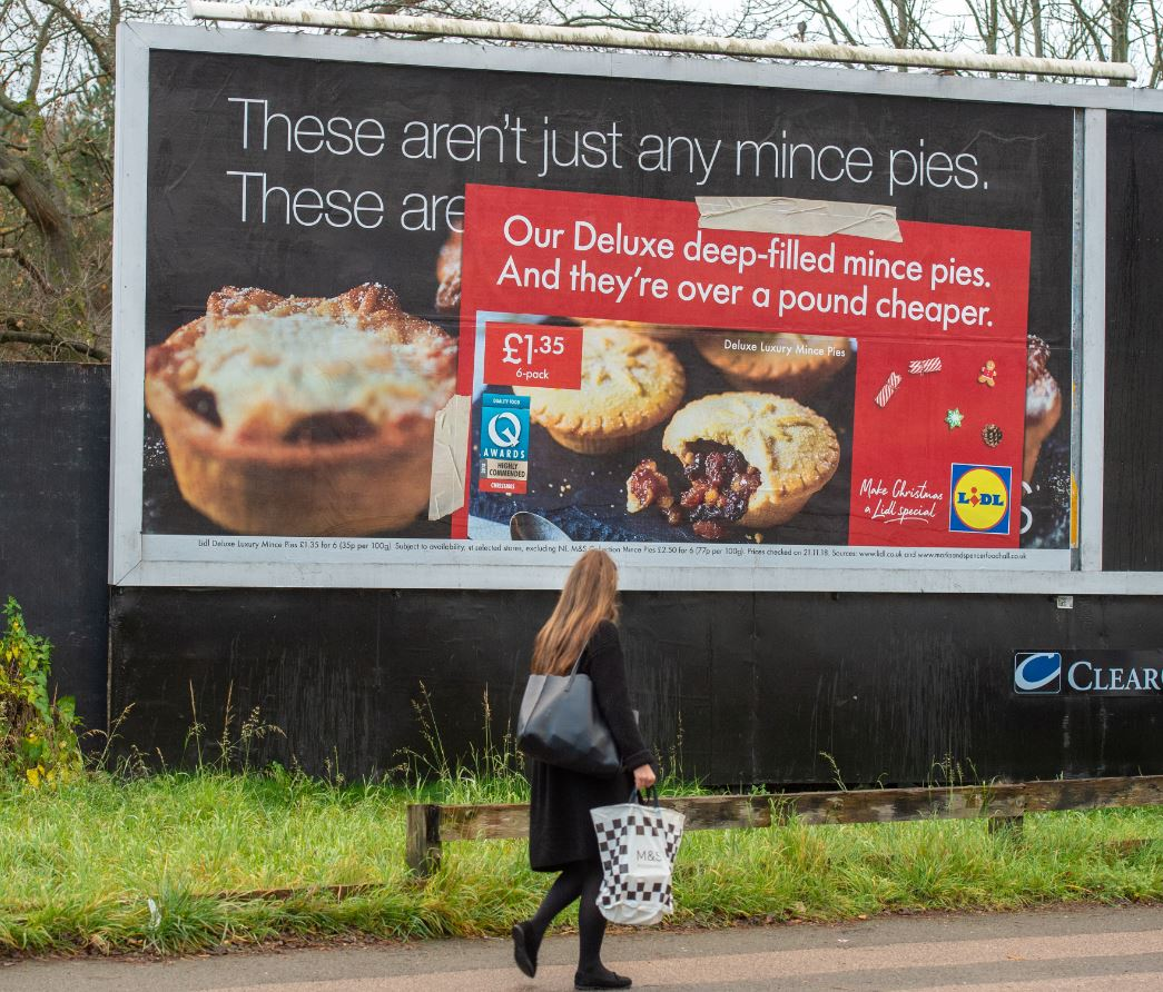 Cheeky Lidl campaign sees retailer 'plaster over' competitors' Glasgow billboards