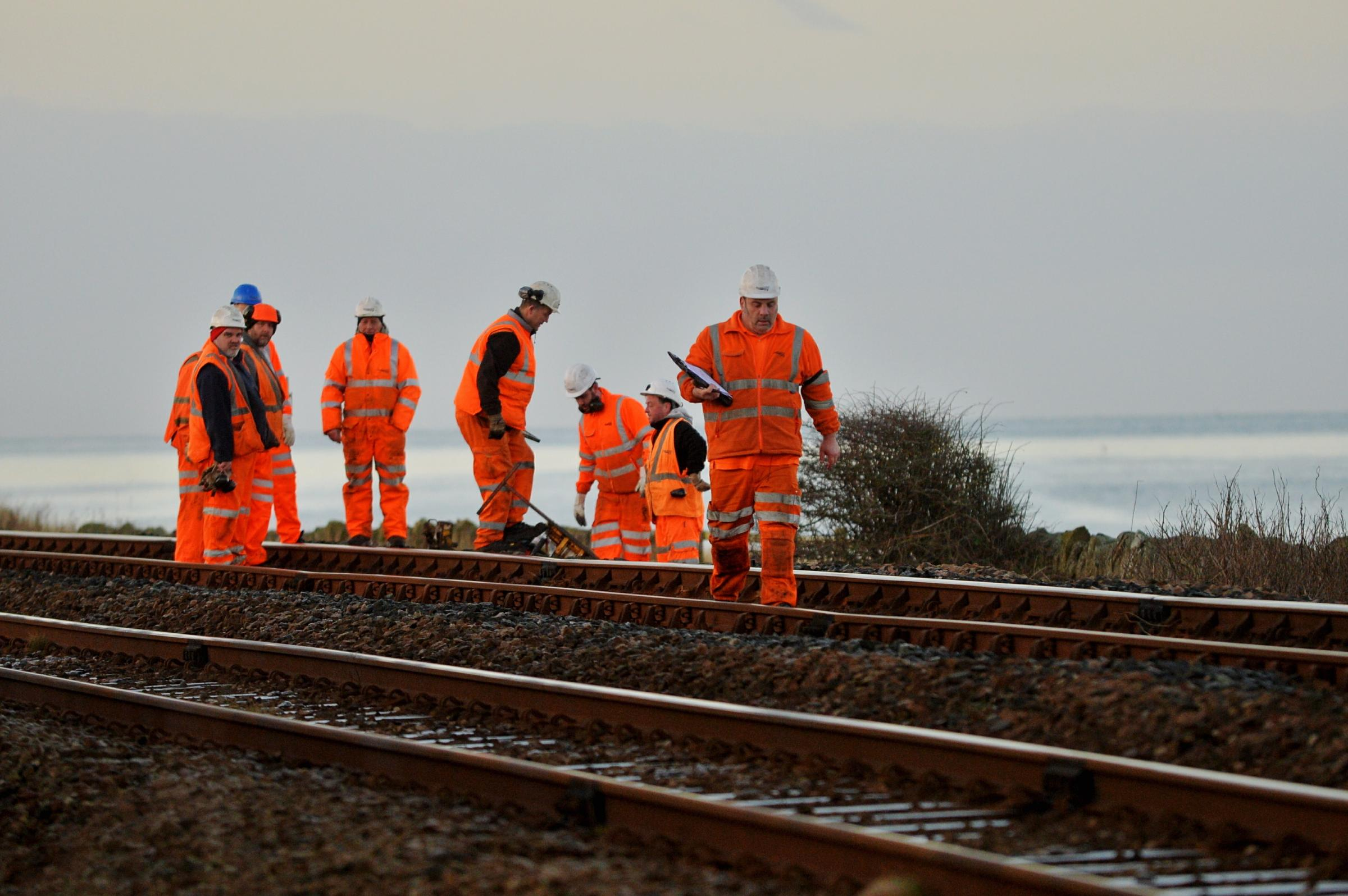 Network Rail workers.