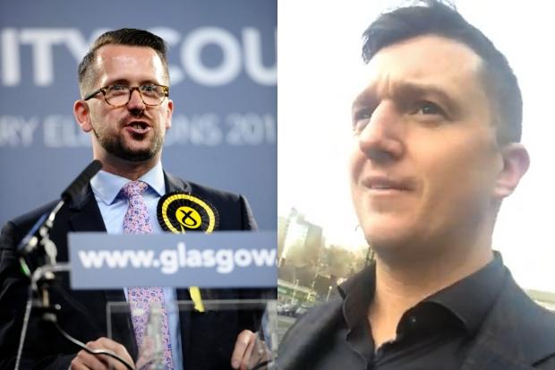 'I'm fed up of these lies': Tommy Robinson speaks out after confronting Glasgow MP at city library