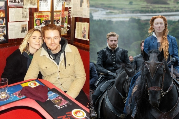 Mary Queen of Scots stars Saoirse Ronan and Jack Lowden spotted in Glasgow pub
