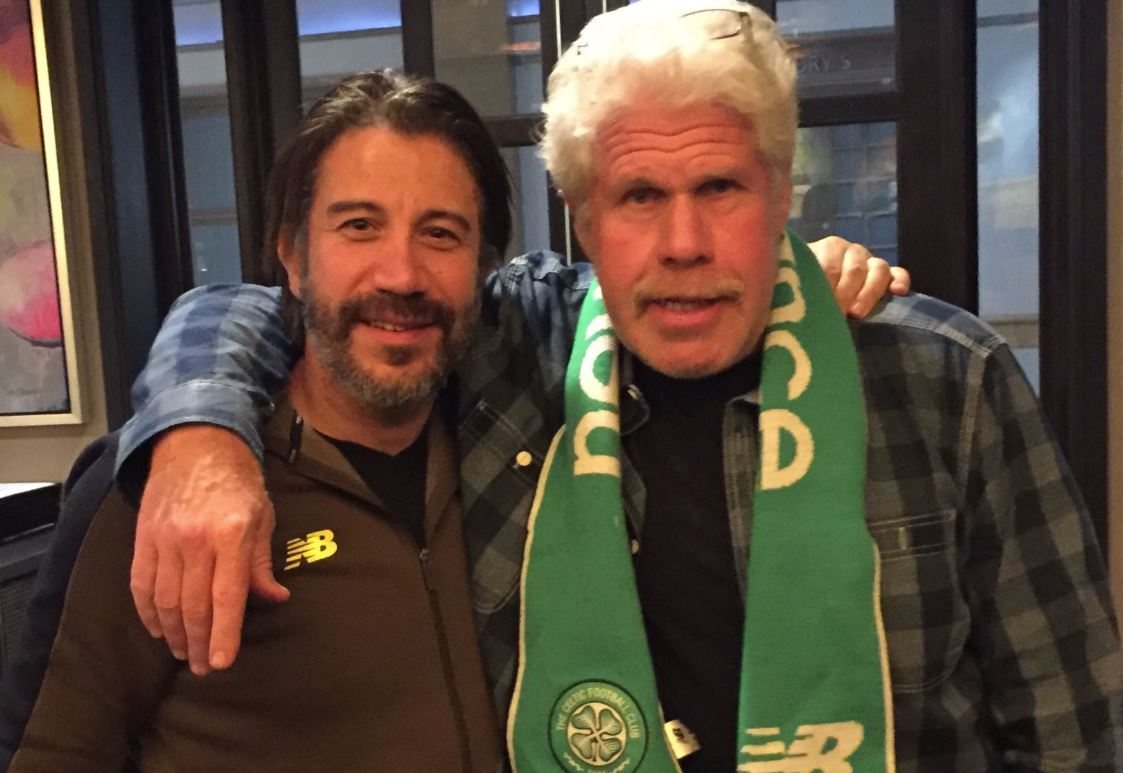 Hellboy star Ron Perlman shows support for Celtic ahead of St Johnstone match