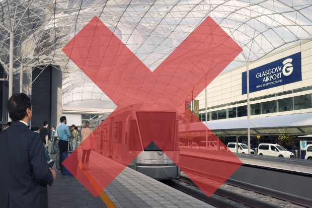 Glasgow Airport rail link to be ditched for rapid shuttle pod to Paisley