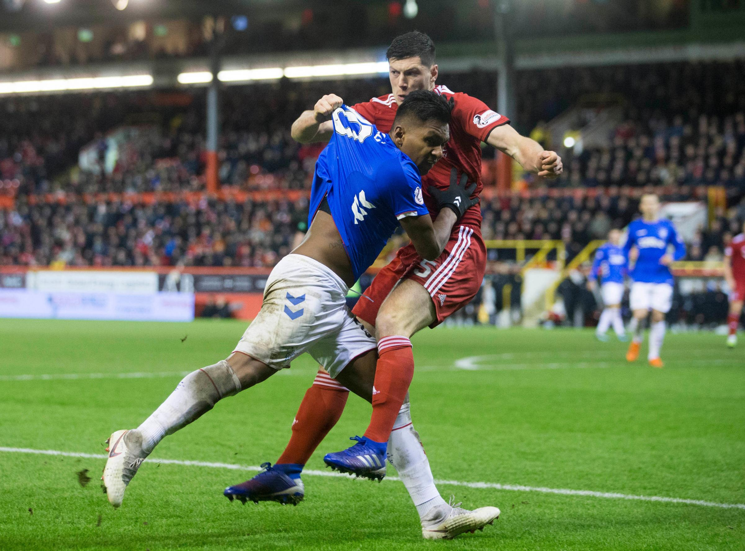 Two charged over 'racist remarks' at Aberdeen v Rangers match