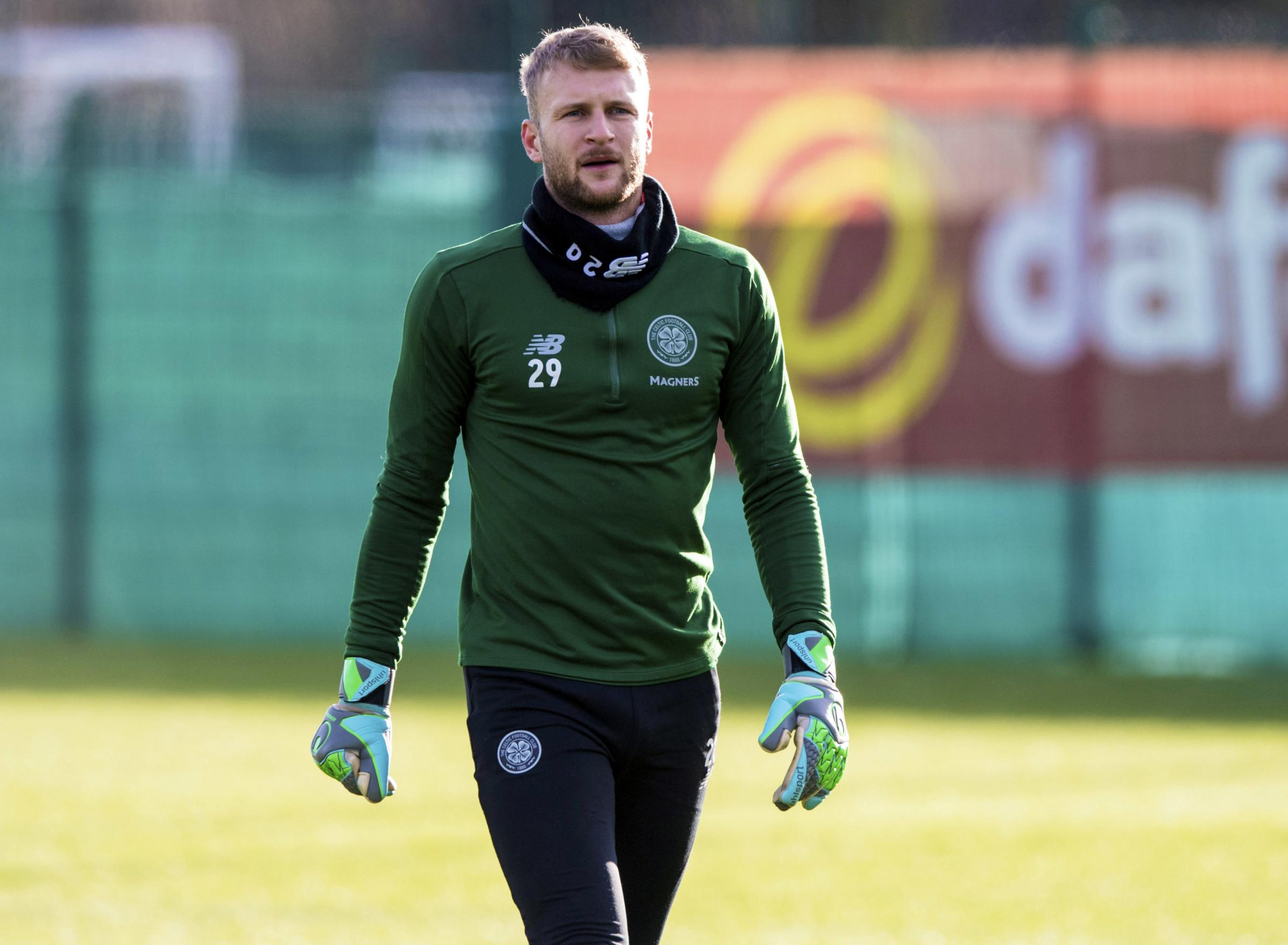 28/01/19.CELTIC TRAINING.LENNOXTOWN.Celtic's Scott Bain..