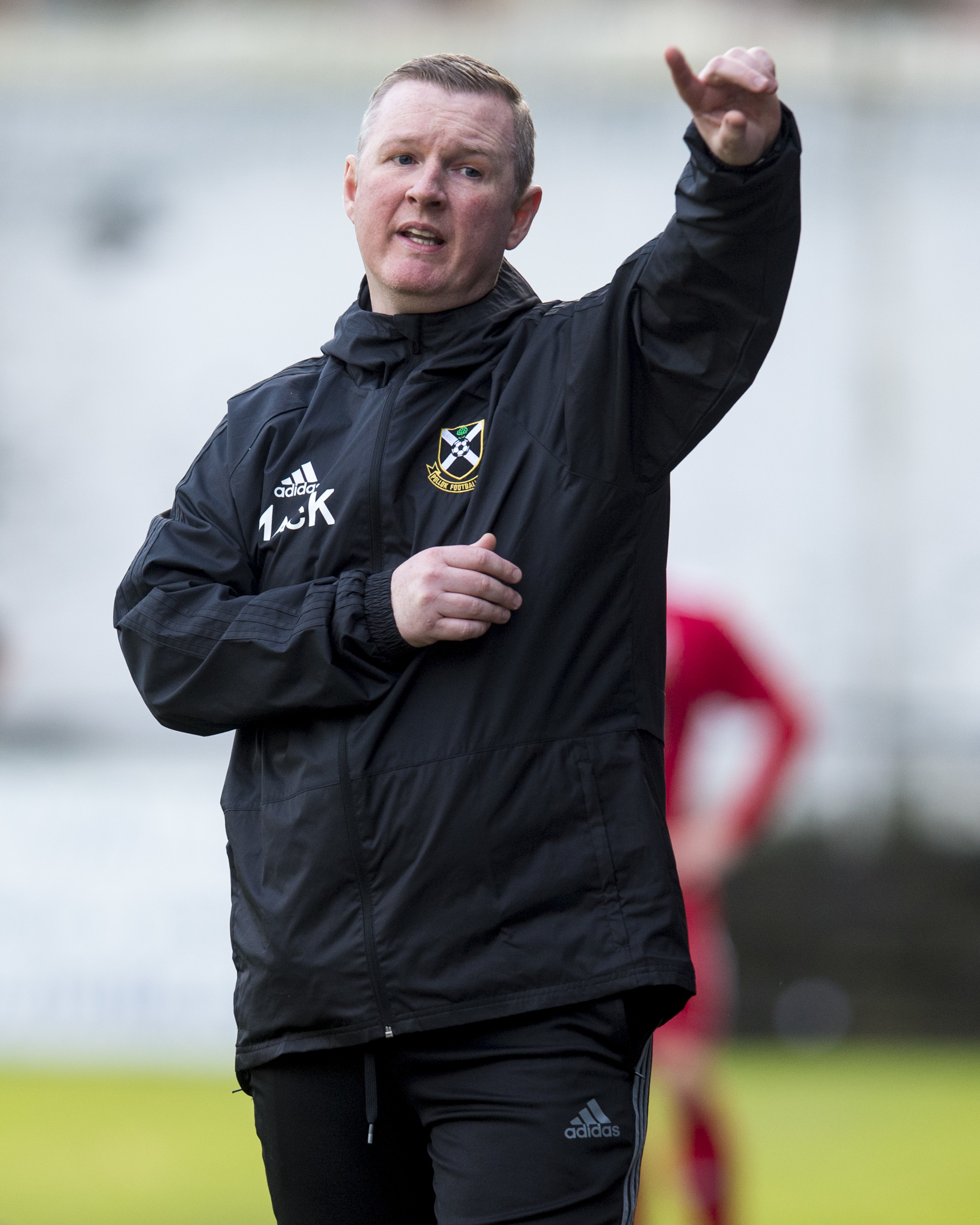 01/12/18 WEST PREMIERSHIP.POLLOK v GLENAFTON ATHLETIC (1-1) (3-0 ON PENS).NEWLANDSFIELD PARK - GLASGOW.Pollok manager Murdie MacKinnon.