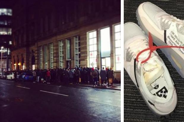 a68ca6f1bd What are the Off-White x Nike Air Max 90 trainers Glasgow shoppers queued  for