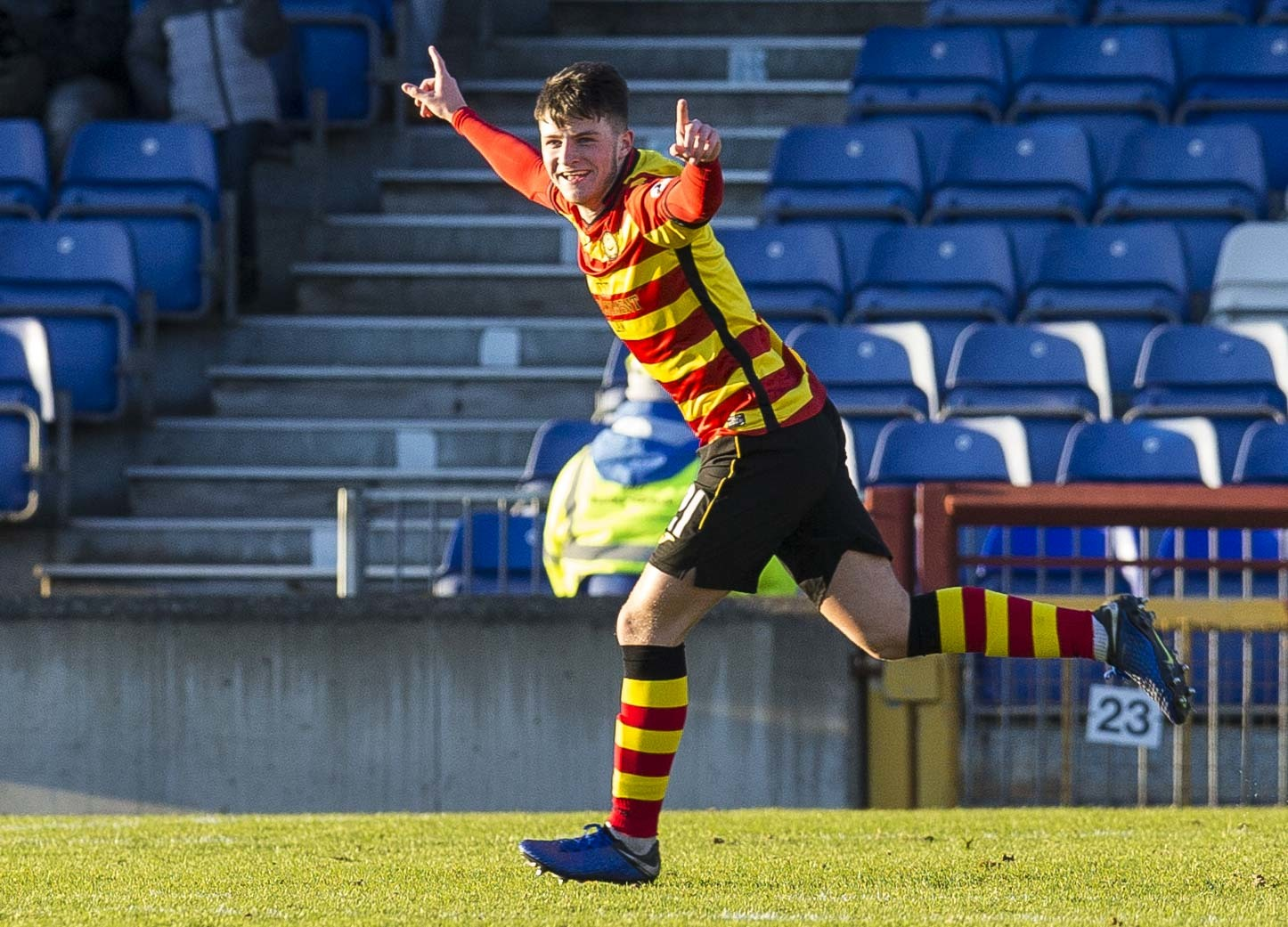 Aidan Fitzpatrick has given manager Gary Caldwell the credit for Partick Thistle's recent turnaround in fortunes.