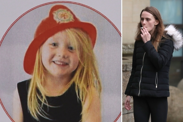Alesha MacPhail (left) and her father's girlfriend Toni McLachlan (right) outside the High Court in Glasgow