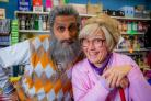 Jane McCarry as Isa and Sanjeev Kohli as Navid in Still Game. Picture: Alan Peebles/BBC