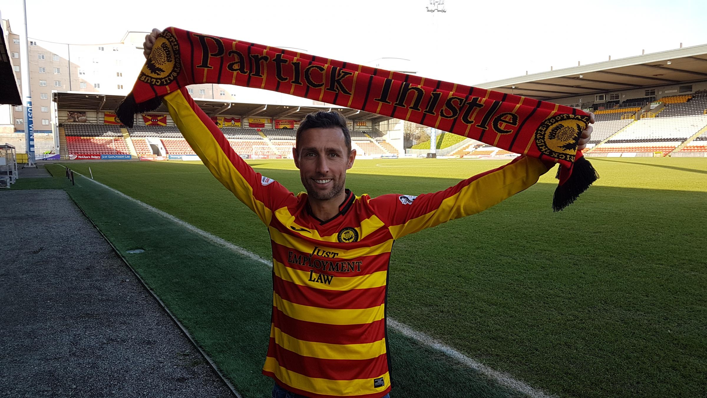 Scott McDonald wants to lend his experience to help the younger players at Partick Thistle.