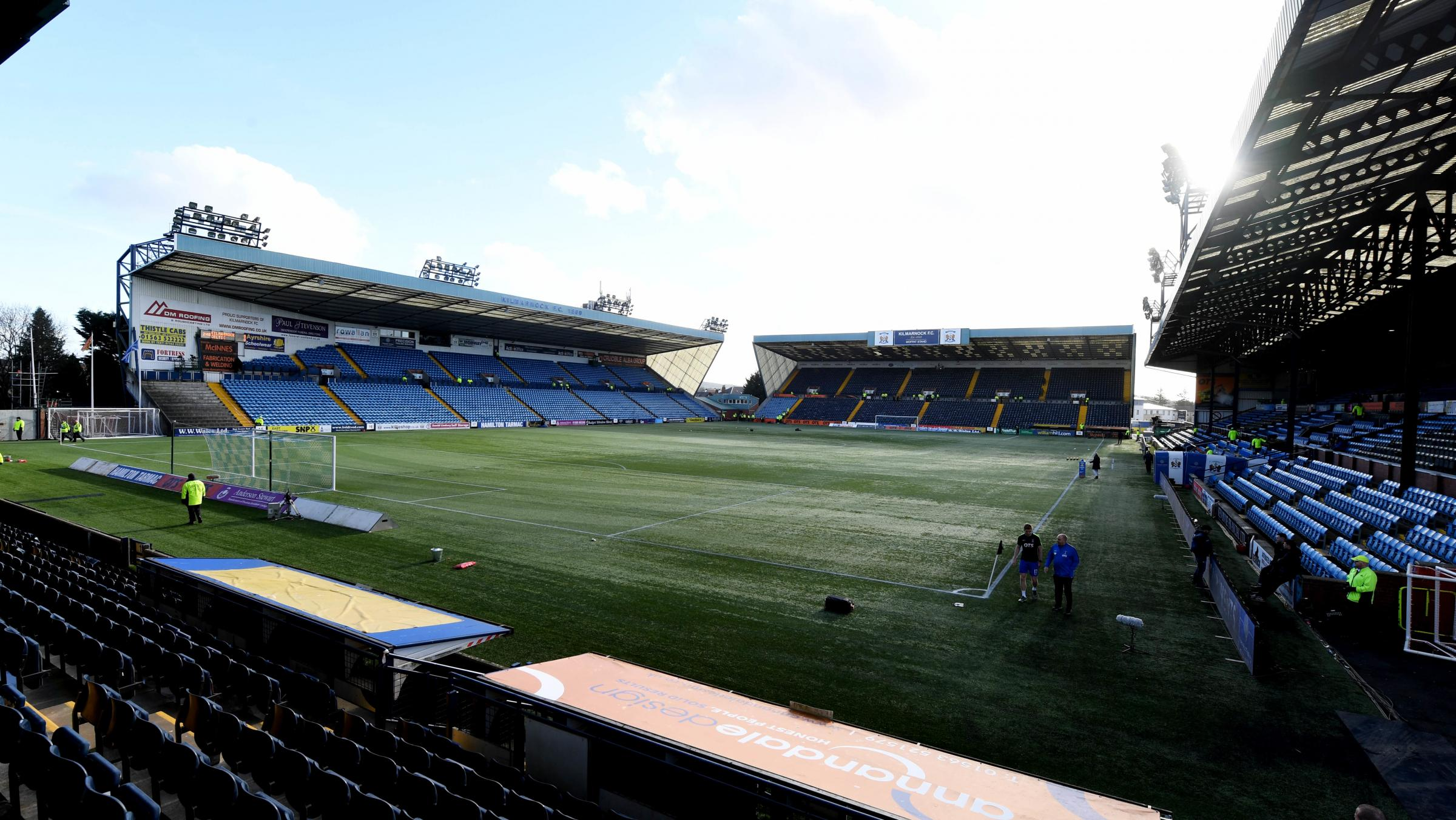 A general view of Rugby Park.