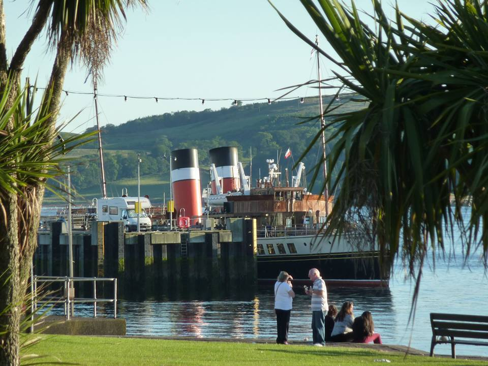 Waverley at Largs. Pic: Grahame Ross.