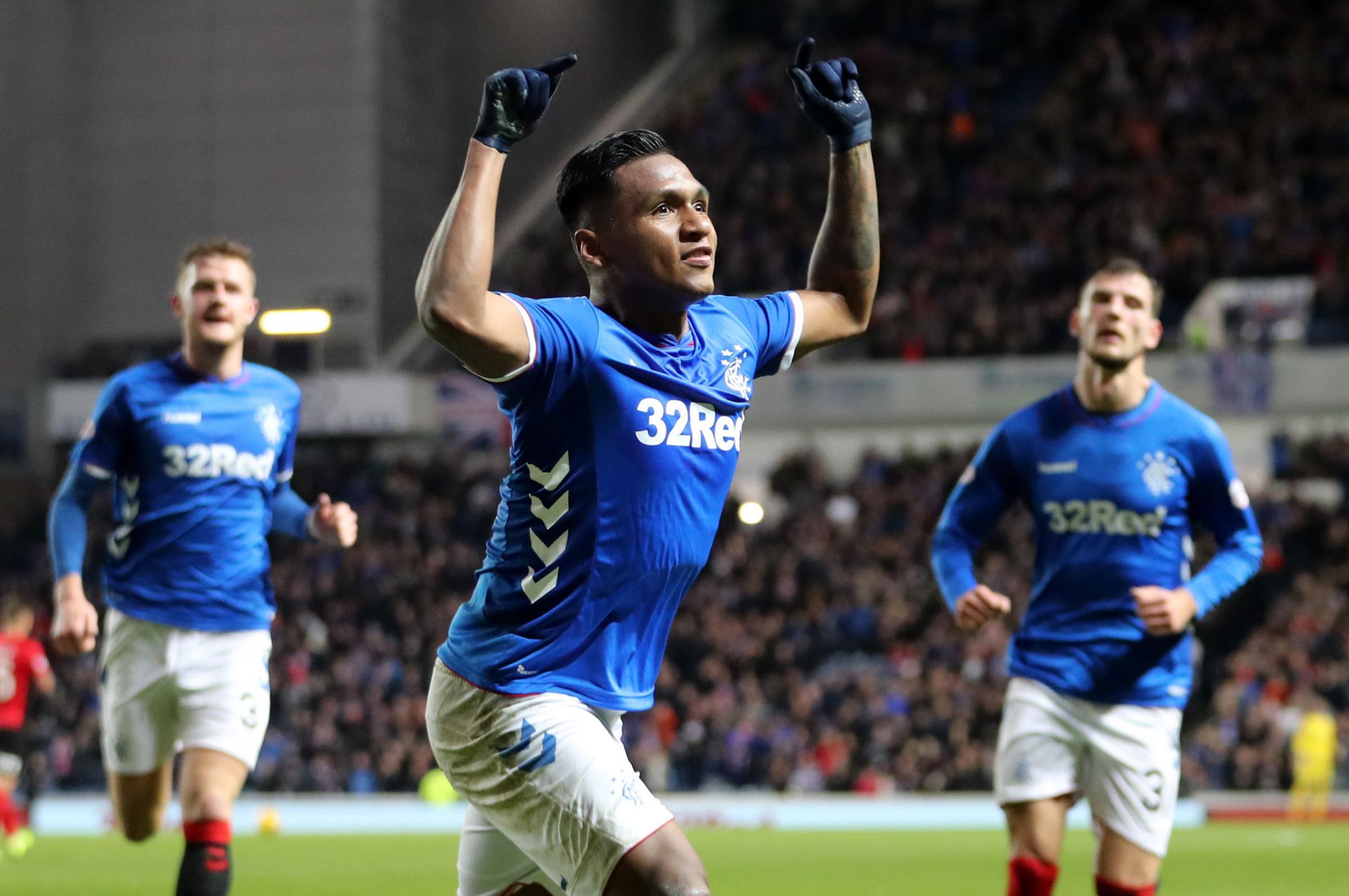 Rangers 5 Kilmarnock 0: Four-goal Alfredo Morelos blasts Rangers into the last eight after early Kilmarnock penalty controversy
