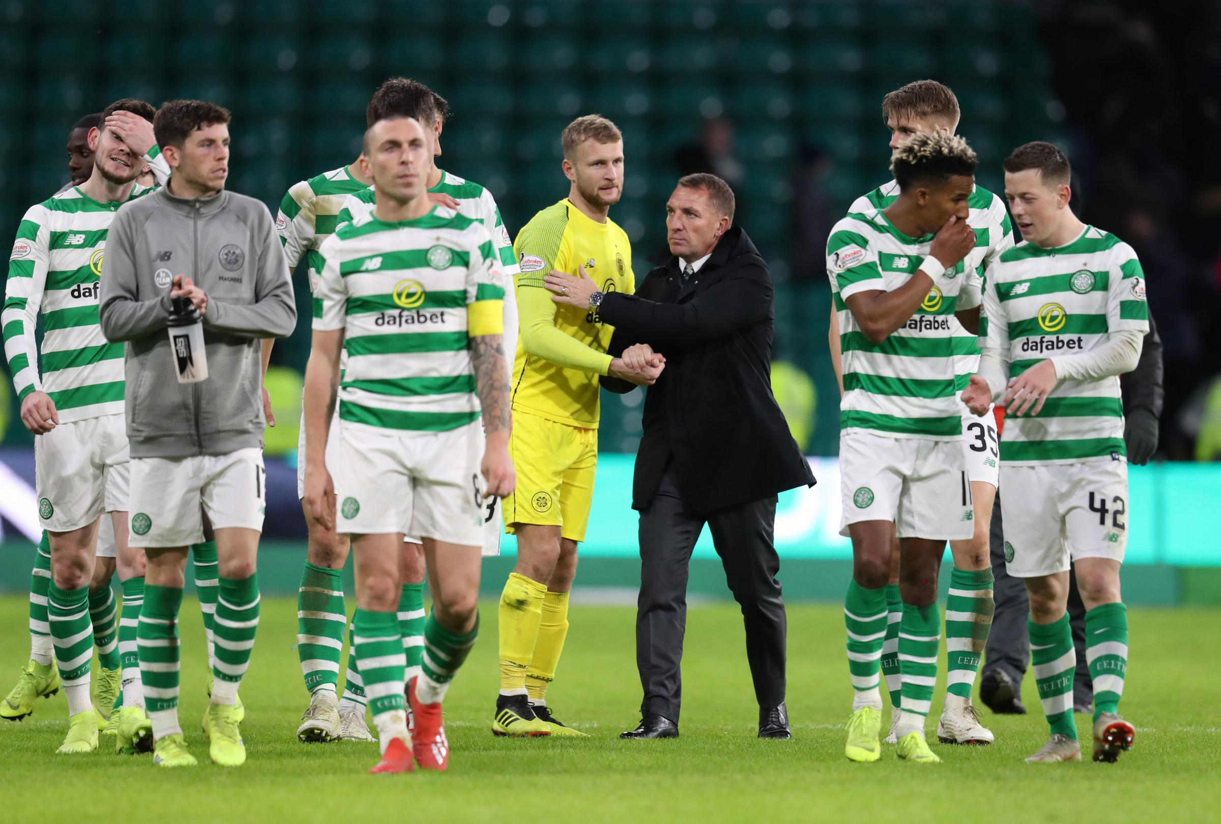 Senior Celtic players were reported to be stunned by the news of Rodgers' impending departure on Monday