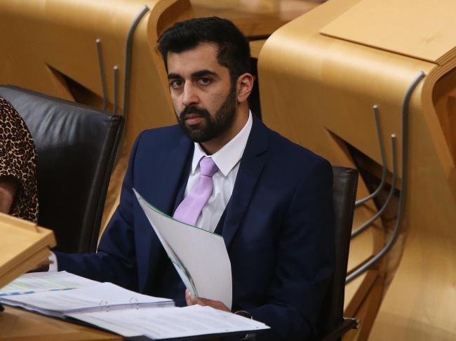 Scottish Transport Minister Humza Yousaf makes an emergency  statement at Holyrood wednesday