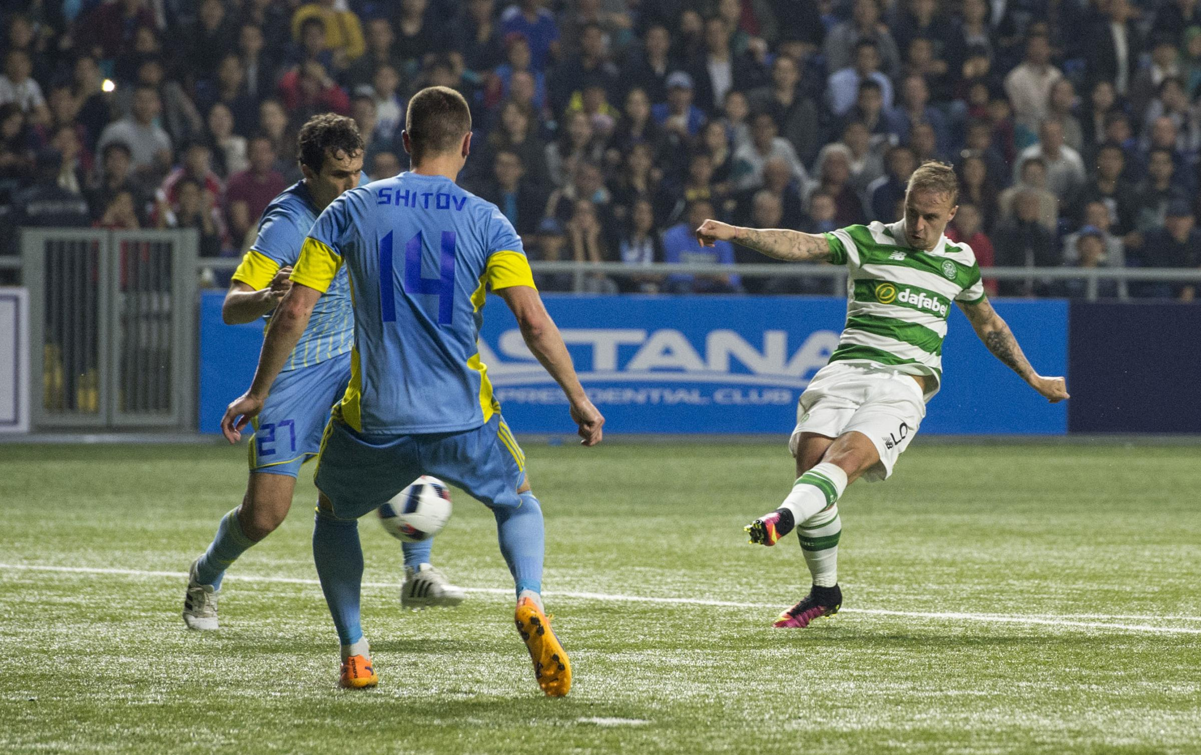 Celtic qualified for the Champions League group stages on the artificial turf of the Astana Arena. Pic: Getty