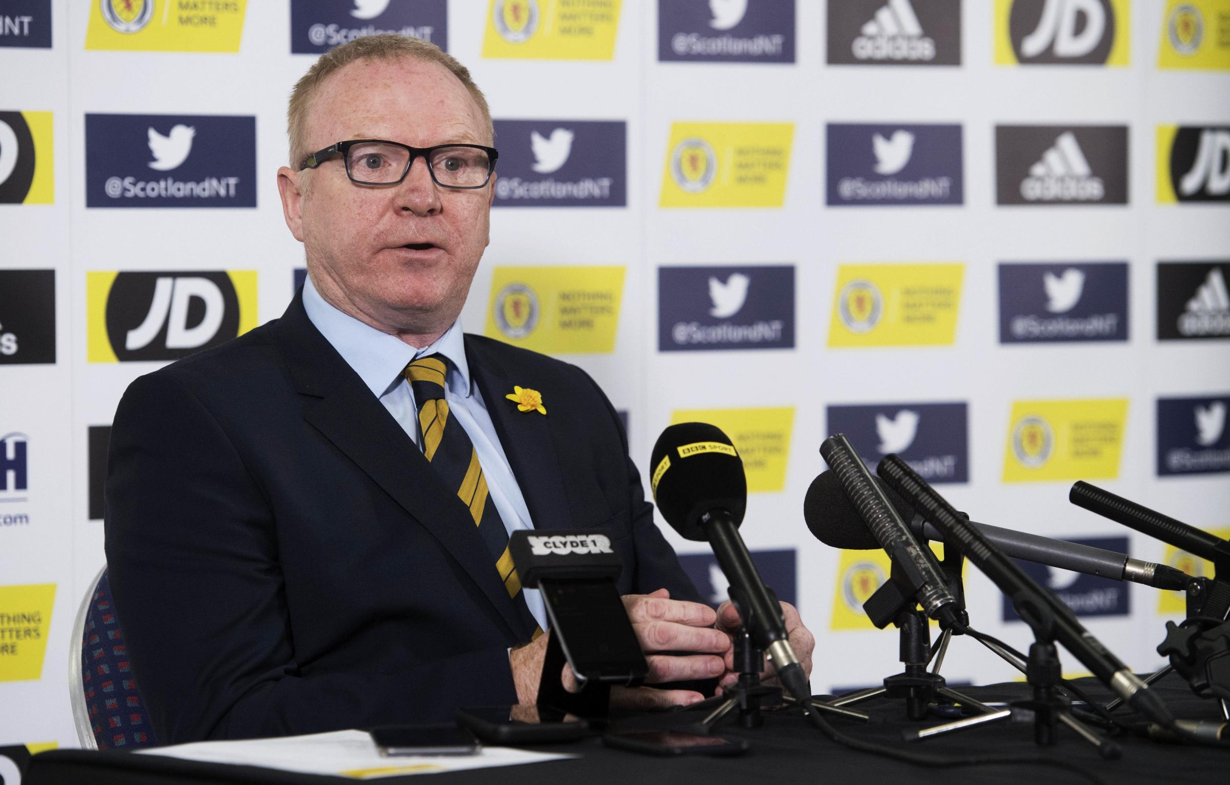Scotland manager Alex McLeish announces his squad for the forthcoming fixtures against San Marino and Kazakhstan.