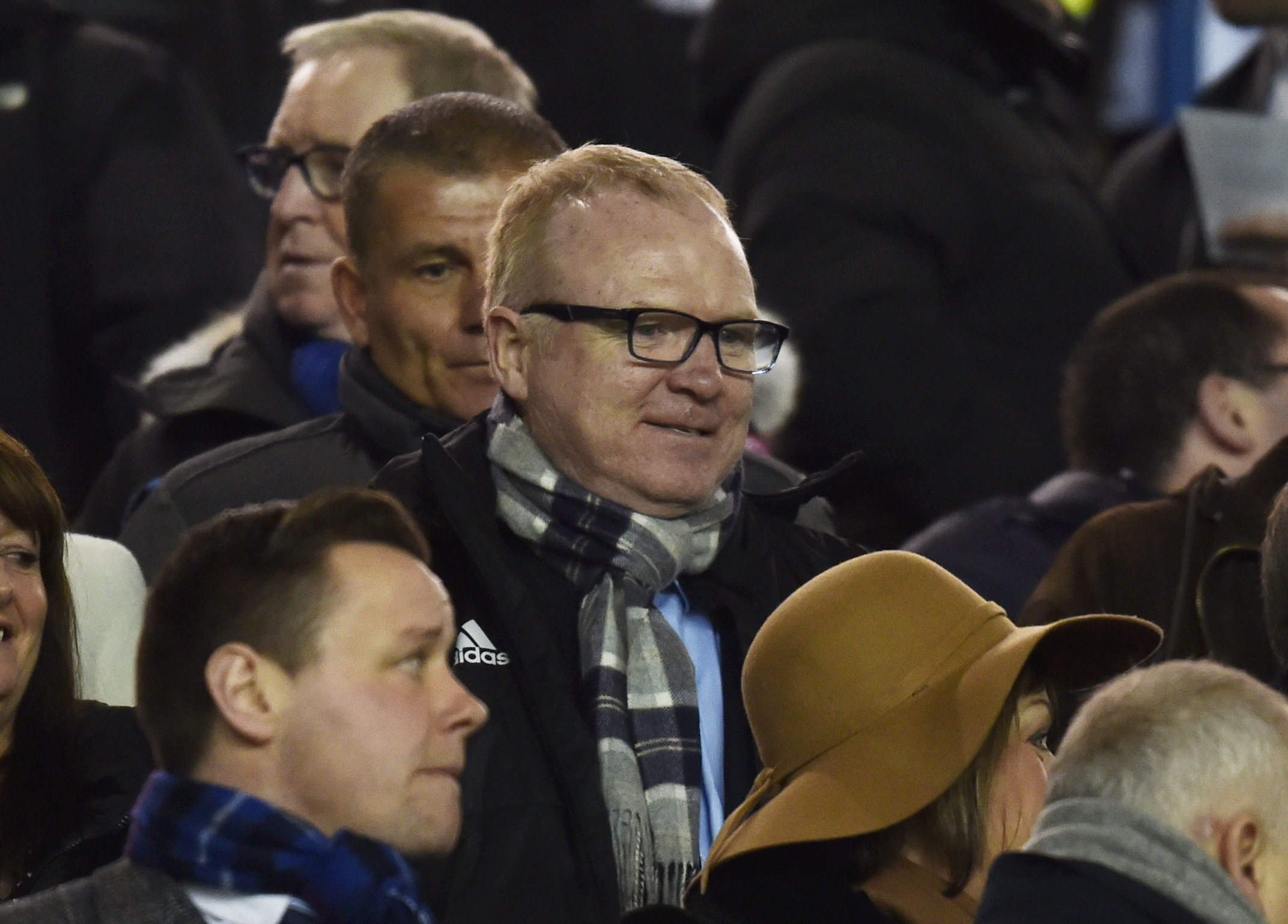 Scotland manager Alex McLeish takes in Aberdeen's victory over Rangers in the Scottish Cup at Ibrox