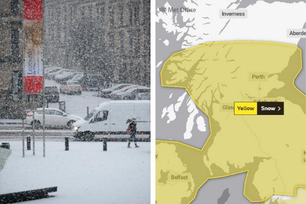 Road, rail and air travel chaos likely across Glasgow as snow warning issued for this weekend