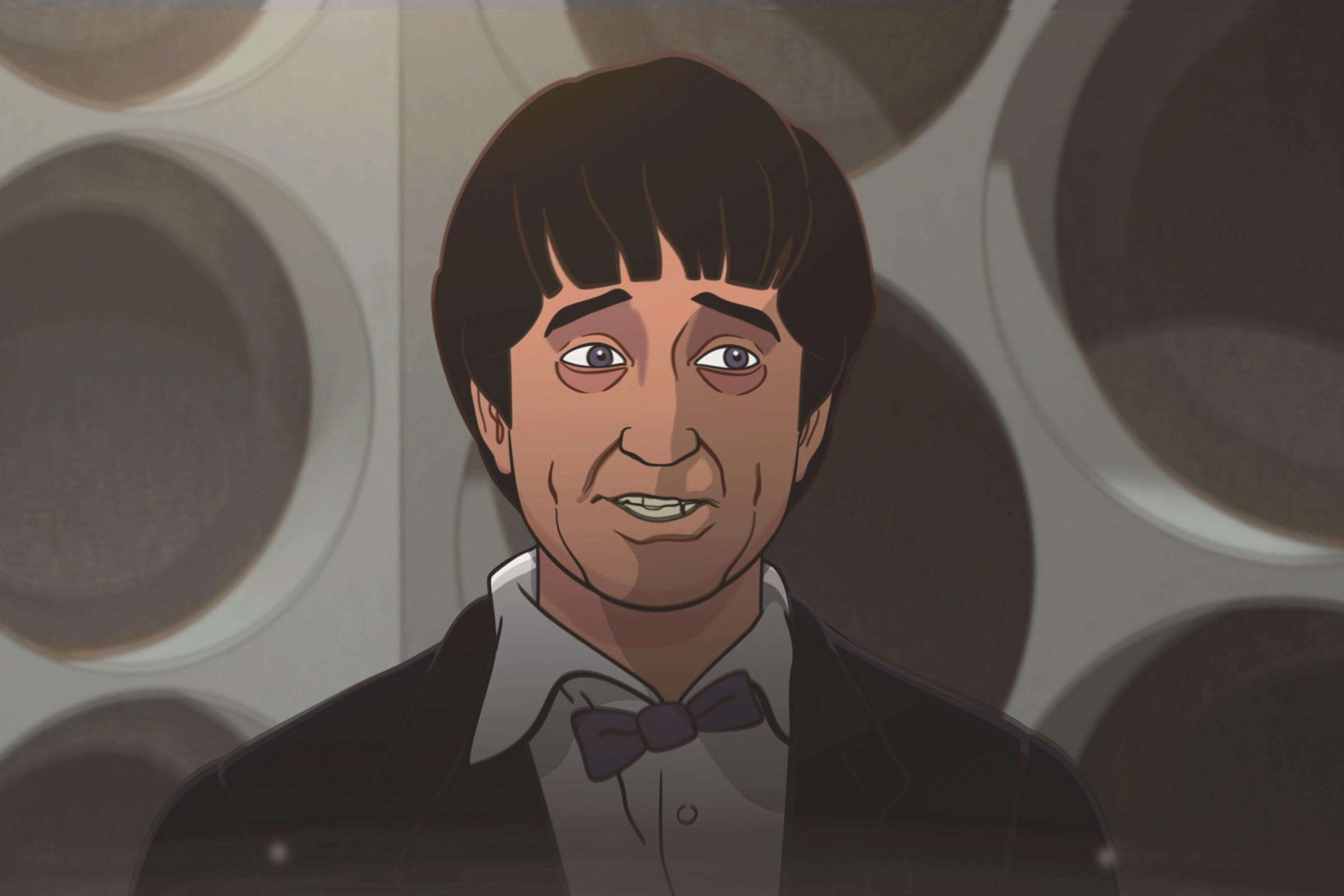 A still from the forthcoming Doctor Who animation series The Macra Terror