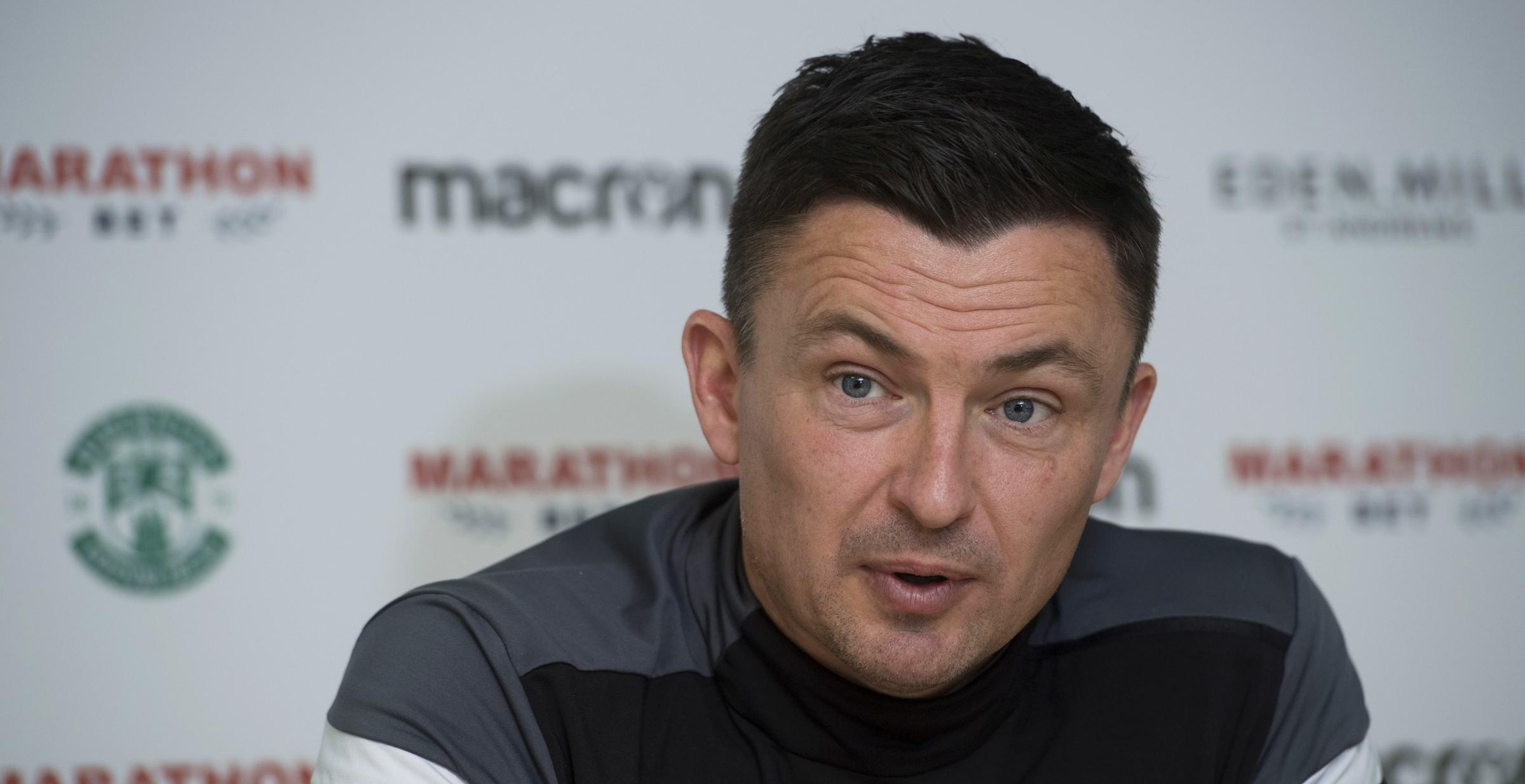 Hibernian manager Paul Heckingbottom.