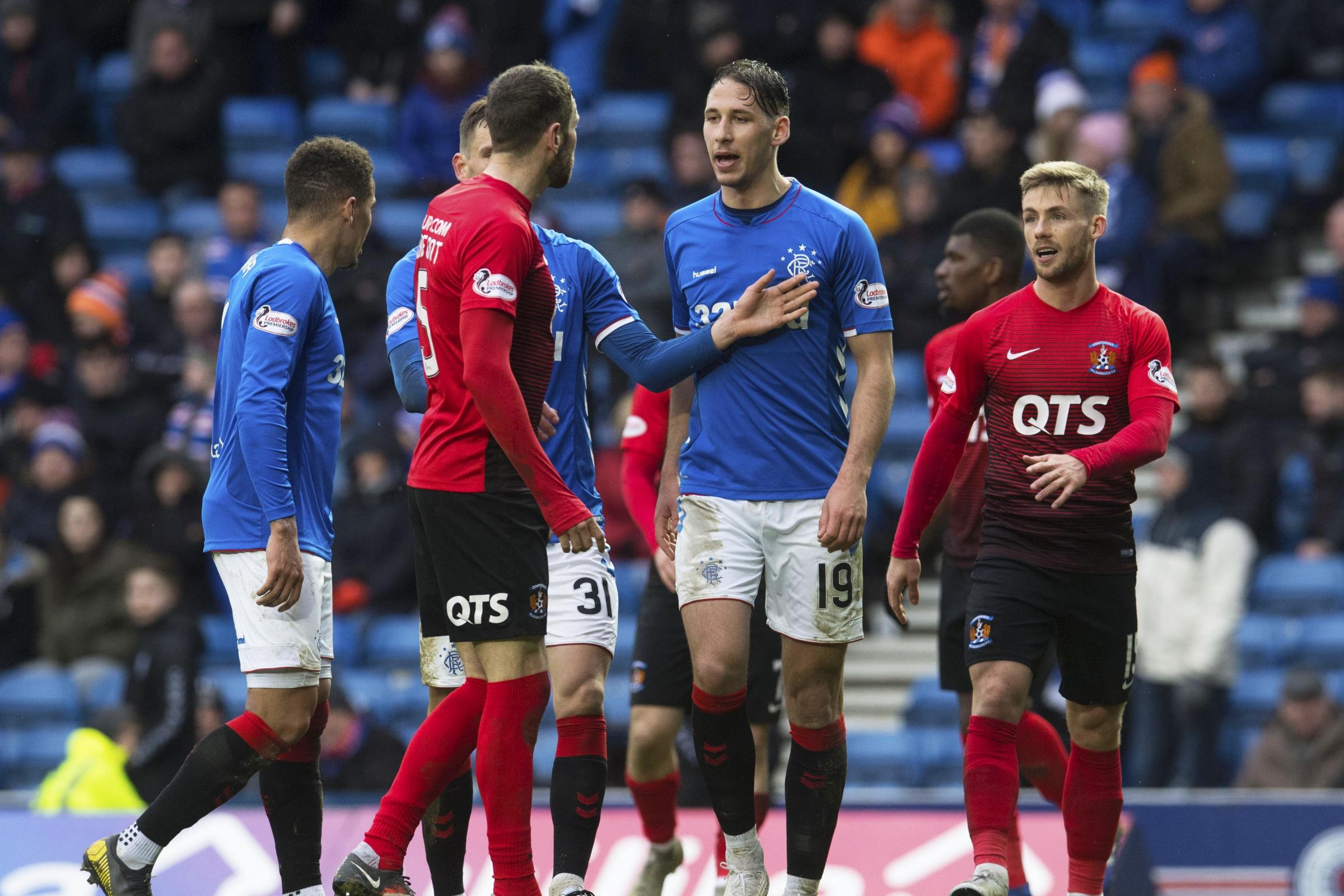 Rangers defender Nikola Katic surprised by style of Scottish football after Kilmarnock's 'rugby' approach at Ibrox