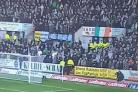 The flag was removed by stewards at Dens Park