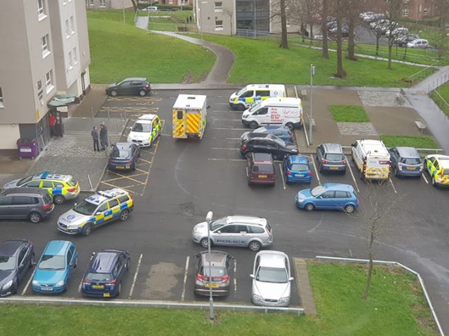 Emergency services rush to Scotstoun as woman falls from flats