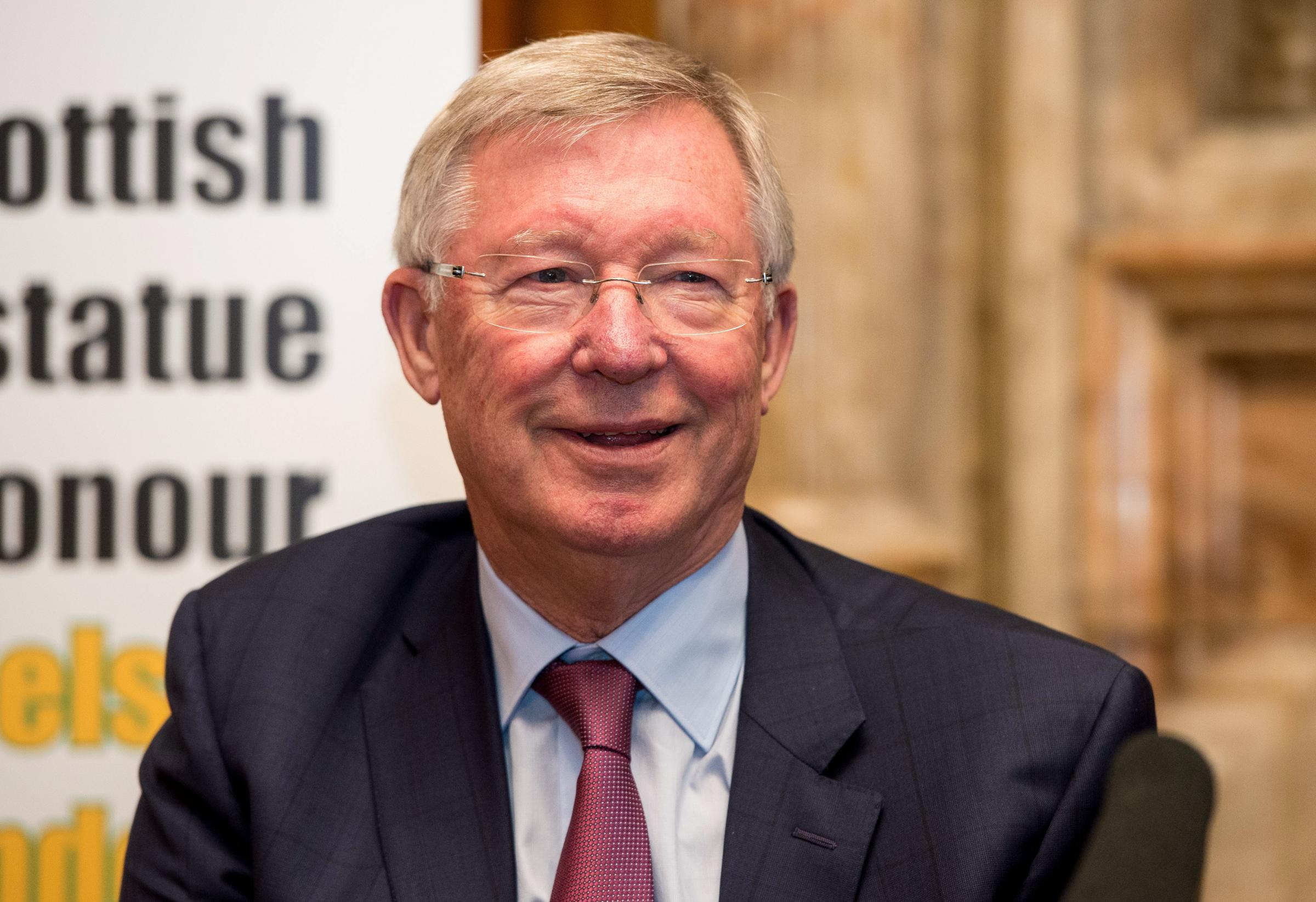09/10/17.GLASGOW.Sir Alex Ferguson at the launch of the fundraising campaign to honour Nelson Mandela..
